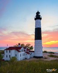 Big Sable Lighthouse (Michigan Nut) Tags: ludington lighthouse bigsablepointlighthouse lakemichigan landmark scenic structure sunset greatlakes nikond850