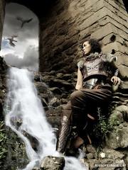 Norse Warrior & Dragons (AlexHarford) Tags: norse fantasyart waterfall dragons