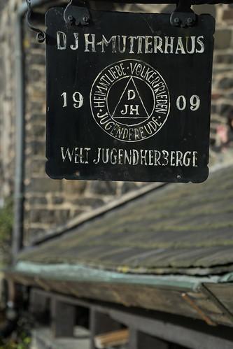 Historisches DJH Schild