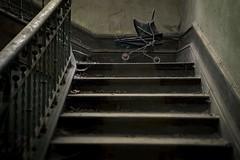 'Baby Steps' (Taken-By-Me) Tags: takenbyme creepy explore exploring explores abandoned adventure baby babies pram cries cry dark derelick eerie forgotten gone left nikon d750 step steps stairs urbex ue urban takenbymephotography