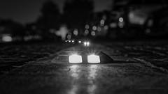 UFOs Invasion (B&W) (Mohammed Qamheya) Tags: nikon d500 sigma bw blackandwhite monochrome street light lights night bokeh qatar doha katara