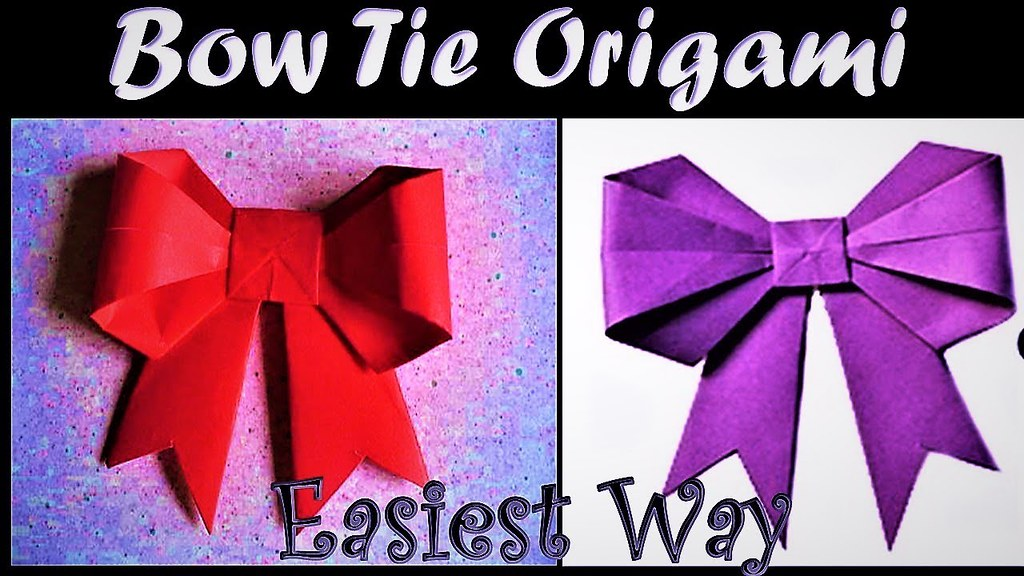 How To Make Paper Made Ribbon Bow Tie