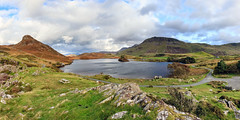 Panorama Cregennan (Howie Mudge LRPS BPE1*) Tags: cregennanlakes lake water sky clouds hills mountains grass bracken autumn october 2017 outside outdoors travel travelling traveller landscape nature ngc nationalgeographic photo photograph photography photographer scene scenery scenic view vista beautiful love gwynedd wales cymru uk canon canoneos80d autumnal color colour efs1755mmf28isusm