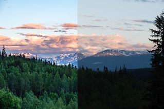 Mount Weber & Kiteen Ridge [RAW vs Lightroom Edit]