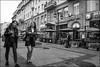 DR150904_0718D (dmitryzhkov) Tags: city europe russia moscow documentary photojournalism street urban candid life streetlife outdoor streetphotography streetphoto light shadow dmitryryzhkov people portrait streetportrait face man sony person stranger day daylight lights shadows blackandwhite bw monochrome white couple two converse conversation faces motion movement walk walker emotion smile friend pretty woman women