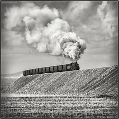 Hegang Coal Train (channel packet) Tags: china steam train railway railroad sy coal mine colliery smoke monochrome blackandwhite davidhill