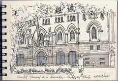 Cuartel general de la Armada (f.gómezcorisco) Tags: rotulador madrid airelibre castejao urbansketchers cuaderno apunte boceto dibujo arquitectura
