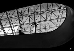 [ Sguardi di vetro - Glass gazes ] DSC_0506.R3.jinkoll (jinkoll) Tags: people street architecture rome musei vaticani roof ceiling hole shadow bnw bw blackandwhite man silhouette glass light reflections cameras security