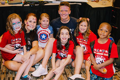 2017_NMSSS_Hannah 65 (tapsadmin) Tags: taps nmsss nationals hannahslusser tragedyassistanceprogramsforsurvivors az arizona phoenix nationalmilitarysuicidesurvivorseminarandgoodgriefcamp mentor 2017 fall child goodgriefcamp indoor horizontal redshirt blueshirt posed group male woman kids children diversity face painting