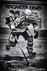 DSC_4749 (NRG SHOT) Tags: ihl italianhockeyleague icehockey ice hockey ghiaccio hockeylife hockeygame hockeyplayer manetenca 90 capitano cesolouncapitano hockeystick hockeysughiaccio nrgshot blackandwhite action sport hcc hcm chiavenna merano hcchiavenna