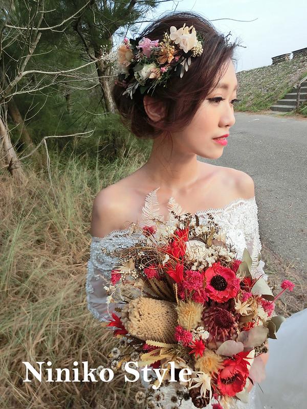 台南,婚紗,017,新娘,時尚,髮型,頭飾,鹽山,俐落,大方,自助