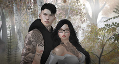 Brother & Sister (Manky Button) Tags: siblings secondlife brother sister autumn fall fog speakeasy straydog etham stealthic family rebellion