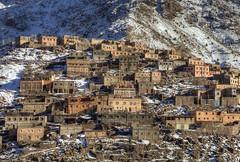 High Atlas Mountains Village (Joost10000) Tags: landscape village atlas mountains mountainside mountain morocco africa scenic beauty landschaft marokko snow canon canon5d eos imlil toubkah