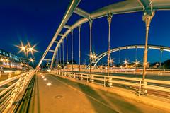 "New Bridge (DomiKetu) Tags: city cityscape cibin sibiu street bridge nikon night romania light lights landscape landscapes longexposure le d700 samyang 14mm wide ff ""full frame"" ""samyang f28"""