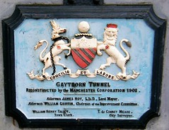Gaythorn Tunnel, Manchester (rossendale2016) Tags: tib river outlet industry cotton coal working barge narrowboat narrow tunnel mill knot century basin deansgate rochdale industrial waterway plaque arms coat canal sign europe kingdom united lancashire england manchester gaythorn