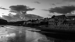 Night time in Pembroke (PhredKH) Tags: fredkh pembrokeshire photosbyphredkh phredkh splendid wales water shadows shadowsandlight afterdark nightphotography nightscene nightpictures night sky clouds greyscale greyclouds buildings houses darkness canon canonphotography canoneos5dmarkiii 2470mm ef2470mmf4lisusm blackandwhite blackwhite blackandwhitephotography outdoorphotography lowlight bw monochrome monographer