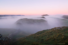 Sycamore Gap Cloud Inversion (SimonLea2012) Tags: uk england northumberland history roman hadrianswall colour light epicsunrise robinhood sycamoregap tree hills mist fog cloudinversion