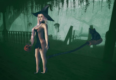 Trick Or Treat? (The Essence Of Fashion) Tags: mello catwa deetalez maitreya muggleborn gos fameshed secondlife blog fashion halloween 3d virtual witch