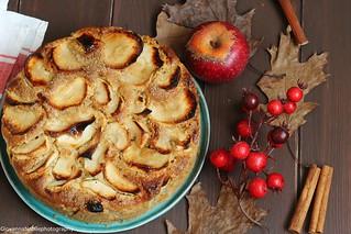 Torta integrale di mele con nocciole 1