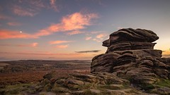 Mother Cap, Hope Valley (alexcalver) Tags: hopevalley sunset autumn england uk moon derbyshire mothercap eos canon80d