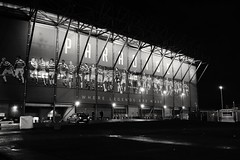 Celtic Park. The Dream that was not to be. (icarium82) Tags: champions league celtic glasgow football stadium scotland match architecture modern sony dscrx1rm2 soccer night lights bw bnwblackandwhiteblackwhitewhiteandblackwnbschwarzweis