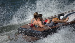 In The Back Seat (swong95765) Tags: boating water wet river spray splash boat speed couple man woman exhilarating