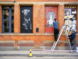 🐝🐝Manchester = new street art installation = Emily Pankhurst🐝🐝