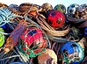 Balls (calzer) Tags: scotland moray lossiemouth samsung saturday recycling bottles ropes footballs plastic balls