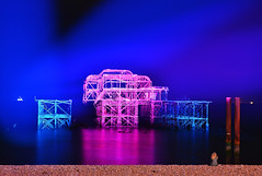 Watching the Light Show (Beardy Vulcan) Tags: england autumn fall october 2016 brighton sussex westsussex watching lightshow light show