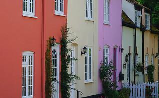 Colourful terrace at Ashwell
