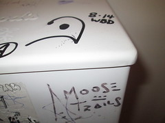 Moose Trails (Railroad Rat) Tags: british colubia canada province moniker graffiti markal art culture freight railroad cn north west sea side weed old growth swampy rainforest hop hobo jungle catch intermodal 48 bucket caddy steel all colours beautiful ramble