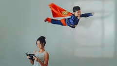 459 Babysit (Katrina Yu) Tags: superhero superman balloon surreal conceptual art fineart manipulation levitation everyday 365project 2017