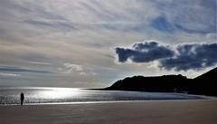 Over the hill (tobymeg) Tags: scotland cloud rock sea sand sun sky dragon shaped panasonic dmcfz72