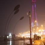 Illuminated Blackpool Tower during Storm Brian thumbnail