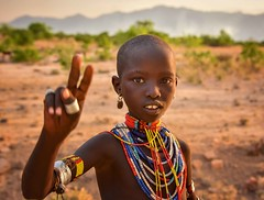 Abore Girl (explore) (Rod Waddington) Tags: africa african afrique afrika äthiopien ethiopia ethiopian ethnic etiopia ethnicity ethiopie etiopian omo omovalley outdoor omoriver outdoors ebore tribe traditional tribal girl culture cultural child portrait people