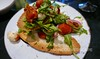 Tomato & Bocconcini salad on garlic crostini (Vancouverscape.com) Tags: 2017 prospectpoint stanleypark vancouver dining