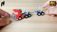 How to Build the Lego Timber Transport Truck with Trailer (MOC - 4K) (hajdekr) Tags: lego buildingblocks assemblyinstructions guide buildingguide tuto tutorial tip help tips stepbystep inspiration design manual moc myowncreation instruction instructions toy model buildingbricks bricks brick builder buildingtoy chain micro small simple simply truck trailer wheel wheels creation camion timber wood technic flatbedtruckproductcategory transport transportation studs nostudsontop farm