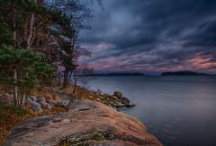 Rocky Shore (Topolino70) Tags: canon600d rock tree shore stone sea water sky blue karhusaari espoo finland