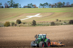 The Cross (Jez22) Tags: tractor cross chalk white commerative fendt 939 simba xpress agriculture memorial photograph copyright jeremysage kent england lenham field farming war