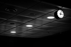 Time is on my side - yes it is🎶 (andersåkerblom) Tags: time ceiling clock monochrome blackandwhite