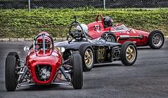 Cars Lining Up (PAJ880) Tags: formula junior start racecars open wheel monoposto lime rock park lakeville ct