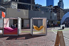 HUBweek (10) (AntyDiluvian) Tags: boston massachusetts cityhallplaza cityhall hubweek exhibition art science technology dome geodesicdome audience container shippingcontainer restspot restarea sit sitting
