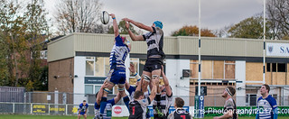 Jake Barron steals the Luctonians' line out from James Scott -0330