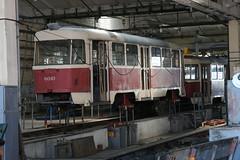2017-06-21, Kyiv, Depo Schevchenka (Fototak) Tags: tram strassenbahn dépôt atelier tramwerkstatt tatra kyiv ukraine 6010