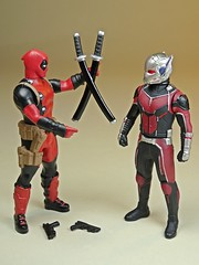 Takara Tomy – Metal Collection (Metacolle) Marvel Mixed Bag – C'mon! Your Outfit and My Katanas!! C'mon!! (My Toy Museum) Tags: takara tomy diecast metal collection metacolle marvel universe iron man ant deadpool figure
