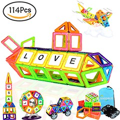 Magsbud Magnetic Blocks, Colorful Magnetic Building Blocks for Kids, Children's Magnetic Construction Tiles Sets, 114 Pcs Educational Toys for 3 Years + Boys and Girls (saidkam29) Tags: blocks boys building childrens colorful construction educational girls kids magnetic magsbud sets tiles toys years