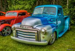 1948 GMC pickup (kenmojr) Tags: 2017 antique atlanticnationals auto car classic moncton newbrunswick show vehicle vintage centennialpark kenmo kenmorris carshow nikon d7000 nikkor 18105 1948 gmc pickup truck flames flamed