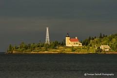Copper Harbor Lighthouse (Thomas DeHoff) Tags: lighthouse upper peninsula michigan sony a580 copper harbor mi