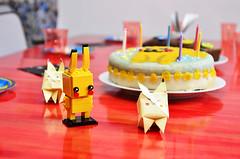 Cake fit for a Pikachu (Arne Kuilman) Tags: pikachu cake taart pokemon birthday food lego brickheadz headz