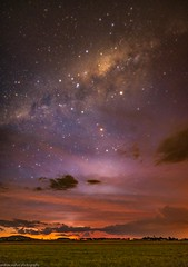 stormy sunset stars (andrew.walker28) Tags: thunderstorm clouds cloudy haze stars glow milky way galactic centre core center nightscape sunset red orange darling downs queensland australia mount tyson long exposure